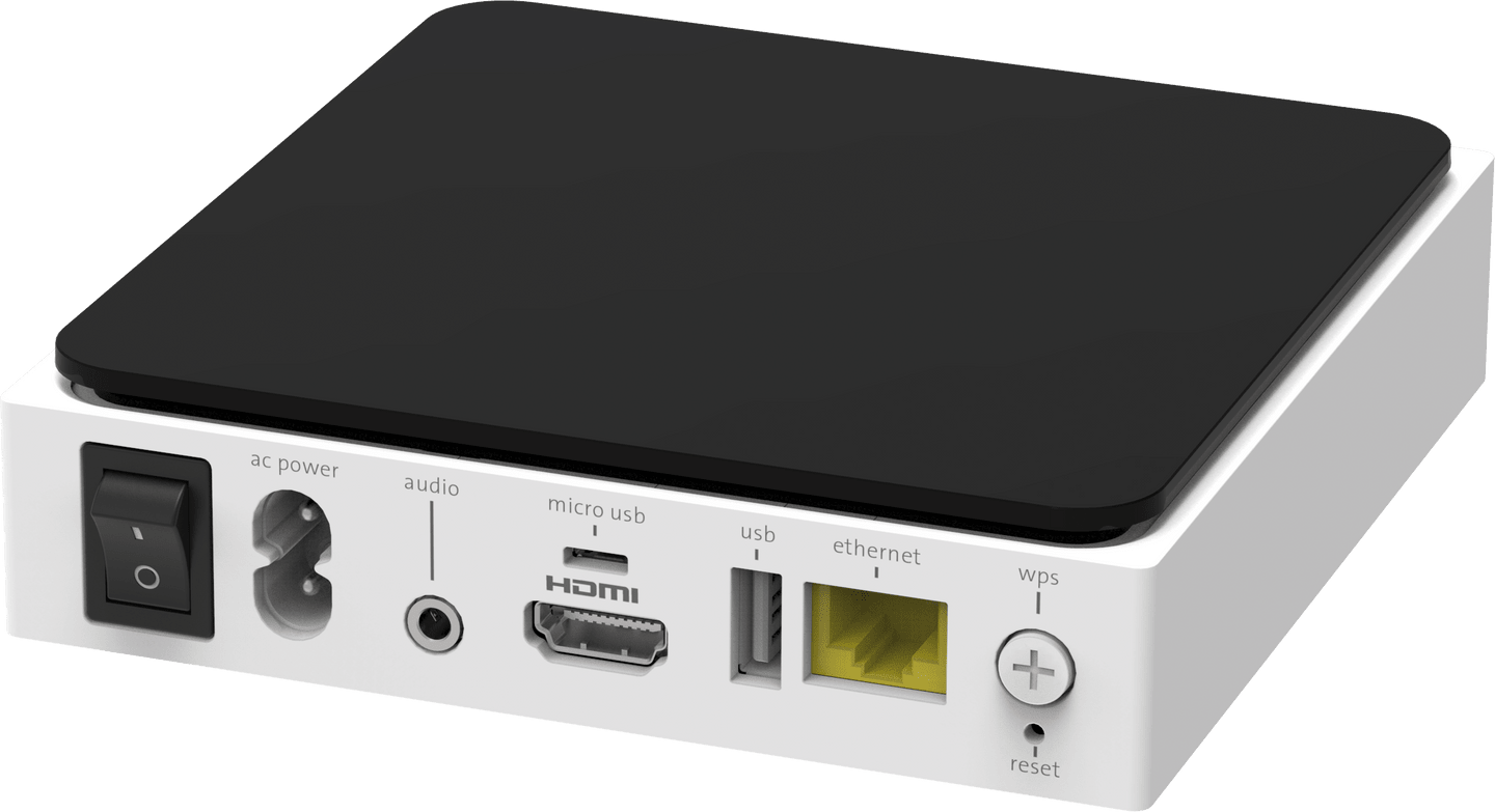 TV-Box IP1200 Posteriore