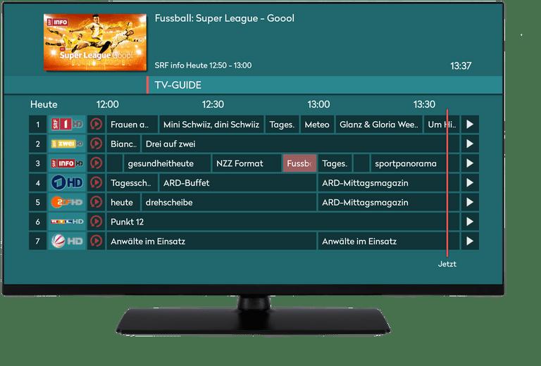 TV App screen DE